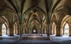 The Cloisters (Explored) (LoneWolfA7ii) Tags: symmetry university arch architecture allanmasson glasgow cloisters scotland sony a7ii light art