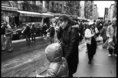 one day in chinatown (-{ ThusOriginal }-) Tags: 135 28mm bw blackandwhite childrensband city f3t film fujineopan1600 monochrome nyc people street thusihaveseen winter thusoriginal newyork scan