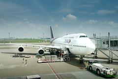 Bangkok bound (@pigstagram) Tags: boeing 747 hnd haneda airport thai airways
