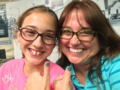 Thumbuddies (autocorrect wanted to change that to thumb issues) (Lee Bennett) Tags: paint girl daughter mother aqua teal polish nail thumb