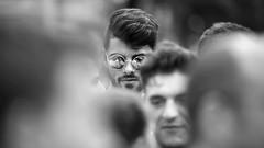CSD - Pride (StellaMarisHH) Tags: europa deutschland hamburg innenstadt stgeorg csd christopherstreetday parade zuschauerr portrait mann brille canon canoneos5dmkii eos5dmkii 5dmkii tamron tamron70200 70200 28 offenblende sw bw photoscape