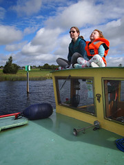 Evry now and again the sun appears (Daire Quinlan) Tags: digital pen olympus epl2 panasonic 14mm f25 barge shannon family river roscommon lough key lock