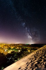 Summer triangle - Dune du pyla - Arcachon (jubu photographie) Tags: night france arcachon gironde aquitaine canon 5dmk2 163528 stars milkyway voielacte dune pyla pilat color summer adobe lightroom photoshop ex