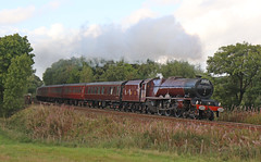6201 Princess Elizabeth - The Cathedrals express (Andrew Edkins) Tags: 6201 lizzie princesselizabeth princessroyal longgardens dorrington cathedralsexpress geotagged canon mainlinesteam welshmarches lms stanier steamtrain pacific 462 railwayphotography shropshire england uksteam