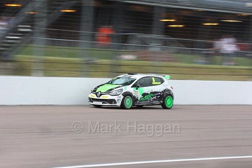 Luke Kidsley at Rockingham during the Clio Cup, August 2016