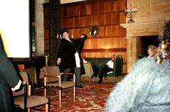 The Non-Smoking Concert - Tony Howlett hams it up (photo copyright Jean Upton)