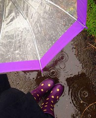 Rain (EleTNT) Tags: rain purple me love happy autum umbrella