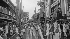 Flag of Proud (Sagar Nikam) Tags: ganpati moraya zenda monochrome outdoor blackandwhite