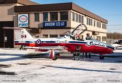 L1110480-2 (daniel523) Tags: sabre jetfighter aircraft rareaircraft goldenhawks snowbirds rcaf cyhu sthubertairport