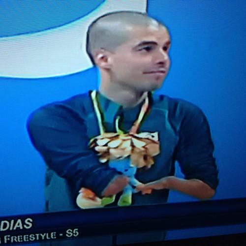 Momento medalha de ouro em choro do dia foi patrocinado pelo Daniel Dias #JogosParalimpicos #Rio2016 #natacao #ouro