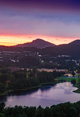 Sunset in Fyllingsdalen, Bergen (Haraldinhio) Tags: bergen norway landscape sunset