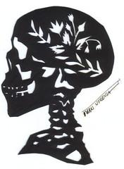 calavera paper cut (ivanutrera) Tags: craneo skull papel paper papercutting papercut picado calavera calaca