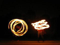 (Kelvin P. Coleman) Tags: canon powershot nottingham people performer groupshot fire spinning twirling performance arboretum afterhours night firespinning firetwirling fireperformance flame flaming poi staff longexposure blur blurred blurry light trails lighttrails outdoor