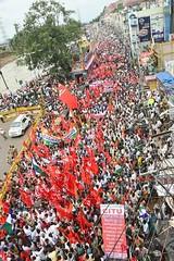 Grevistas em Vijayawada (diarioliberdadebrasil) Tags: ndia greve