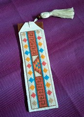 Azteca bookmark (Snailystitches) Tags: bookmark cross stitch stitching xstitch craft aztec pattern triangles