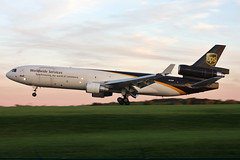 N270UP United Parcel Service MD-11F at KCLE (GeorgeM757) Tags: ups unitedparcelservice md11f n270up freighter mcdonnelldouglas cargo kcle clevelandhopkins georgem757 aircraft airplane alltypesoftransport aviation