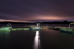 Silver Lake (Curtis Gregory Perry) Tags: silver lake washington night water reflection pontoon boat marina dock harbor port sky clouds cloudy nikon d800e longexposure pier light usa unitedstates america united states