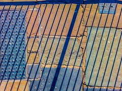 Crazy-Paving (stephenbryan825) Tags: liverpool abstracts contrast dramaticlight graphic handrail pavement railings selects shadow shadows