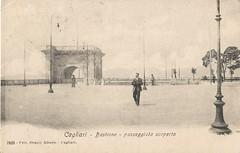 Cagliari_bastione passeggiata scoperta_1906 (paolocogoni) Tags: sardegna cagliari cartolina antica vintage 1906 bastione passeggiata scoperta sardinia