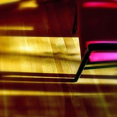 Stuhl~ what else ... (losy) Tags: chair stuhl pink wood yellow losyphotography