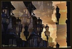 Balconi e lampioni... al tramonto - Settembre-2016 (agostinodascoli) Tags: lampioni balconi texture nikon nikkor cianciana sicilia tramonto sunset photoshop agostinodascoli