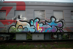 train bombing (livecitizen) Tags: trainbombing art street graffity vandals writers painting spb tag