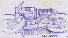 motocicleta a lapicero (ivanutrera) Tags: motocicleta moto motorcycle draw dibujo drawing dibujoalapicero dibujoenboligrafo lapicero pen boligrafo ilustracion sketch sketching