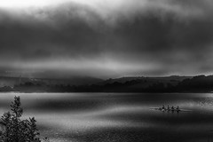 4 in the Morning (PixellMate) Tags: hollingworthlake lake landscape littleborough reservoir reflections water rochdale smithybridge clouds sky haze mist rowing rower