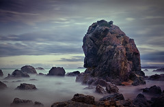 Rocks near Camel Rock (krheesy) Tags: coast beach bermagui camelrock longexposure seashore rock