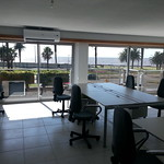 Tryolabs' new offices with Sea view.