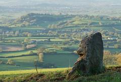 The Smiling Stone (Mukumbura) Tags: morning england sunlight smiling stone standing landscape scenery somerset priddy somersetlevels mendiphills deerleap