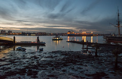 Portsmouth Harbour at dusk... (Charles Smallman) Tags: boats mud ships isleofwight solent portsmouth fishingboats buoys ferries lowwater gosport portsmouthharbour hmswarrior buoyant nikond800 charlessmallman