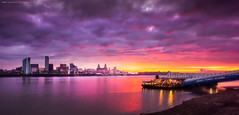 Liverpool Dawn explore #6 (Lee Carus) Tags: ferry liverpool sunrise river dawn sony 7 mersey nex