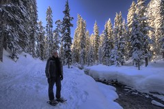 Snow Shoeing (papalars) Tags: winter white snow cold snowshoeing wintersky snoqualmiepass papalars andrewlarsen andrewlarsenphotography