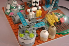Micro Mars City landing platform (CeciΙie) Tags: city mars lego space micro scifi