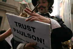 TrustPaulson (Oak217) Tags: nyc ny for downtown president rally protest financialdistrict wallstreet anti 2008 canonef1740mmf4lusm nyse greenparty mattgonzalez canoneos5d bailout raplhnader 700billion