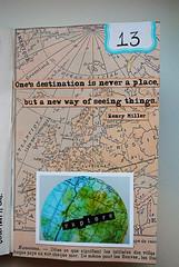 13.-Explore (Mary Brack ~ www.mewithmyheadintheclouds.blogspot.) Tags: advent alteredbook minibook artjournaling mixedmediaart theartjournaler tajcommunity