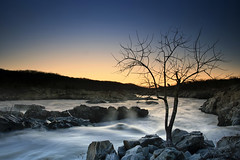 good morning sunshine (dK.i photography) Tags: longexposure tree night sunrise virginia greatfalls rapids clear cascades cloudless potomacriver flickrfriends restrictedarea rockhopping closetotheedge singhrayrgnd silhouetteofsorts notmarylandbutcloseenough