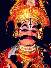 Song of Yaksha (Yakshagana) (kayceevinay) Tags: india theatre karnataka hindu mythology yakshagana gerusoppa bangarmakki