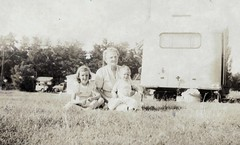 Patty, Grantie, Larry 1949 (LarrynJill) Tags: family baby grandmother pat larry trailer larrynjill