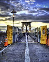 NYC Cyclist on Brooklyn Bridge- (Singing With Light) Tags: city nyc ny photography pentax manhattan july september brooklynbridge 2012 k5 jjp singingwithlight brooklynbridge2012jjpk5nynycsingingwithlightcityjulymanhattanpentaxphotographyseptember