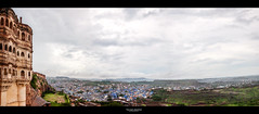 Jodhpur vue du fort (Guillaume Chanson) Tags: blue sky panorama cloud india architecture canon village fort horizon bleu ciel nuage ville rajasthan inde jodhpur canoneos5dmarkii