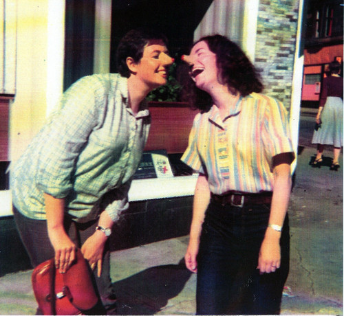 Liz Thomson and Kate Clark 1970s