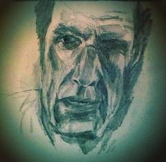 One eye (Jim_V) Tags: portrait pencil sketch doodle uploaded:by=flickrmobile flickriosapp:filter=nofilter