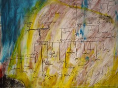 "Detail of ""Blood Relatives I & II"" by Glenda Vilisoni (2007) (Fresh Gallery Otara) Tags: niue southauckland pacificart freshgalleryotara glendavilisoni"