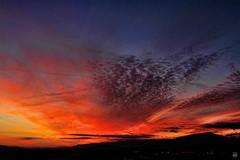 Roanoke Sunset (konrad_photography) Tags: sunset sun mountains color set clouds virginia airport dusk roanoke va