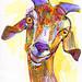 goat drawing  dessin d'une chèvre