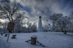 North Point Light Station (JakeRost) Tags: trees winter lighthouse snow wisconsin clouds nikon milwaukee daytime milwaukeewi milwaukeecounty milwaukeecountyparks nikond5100 llmswimilwaukee rememberthatmomentlevel1 jakerost rememberthatmomentlevel2 northpointlightstation winterstormnemo