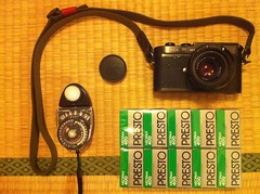 A camera, a light-meter & 10 rolls of film ... (maddoc2003jp) Tags: leica 35mm m42 neopan summilux presto leitz 2013 400pr preasph studiodeluxe seconicl398a uploaded:by=flickrmobile flickriosapp:filter=nofilter