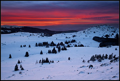 Winter sunset (ivanmiladinov.com) Tags: winter snow bulgaria vitosha
